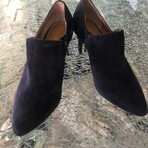 Beautiful Calvin Klein navy suede ankle boots.